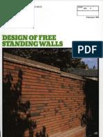 Design of Free Standing Walls Feb 1984