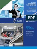 Folleto de la Carrera de Ing. Industrial y de Sistemas (IIS11)