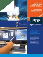 Folleto de la Carrera de Animación y Arte Digital (LAD11)