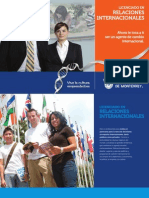 Folleto de la Carrera de Relaciones Internacionales (LRI11)
