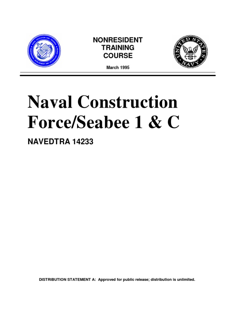 Naval Construction Force/Seabee 1 & C: NAVEDTRA 14233