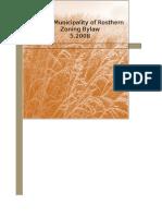 Rosthern Zoning Bylaw 2008
