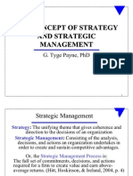 The Concept of Strategy (1) Fall 2009