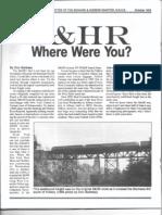 S&HR Where Were You?