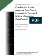 CONTRIBUCIÓN A LA CARTA RUPESTRE DE GRAN CANARIA. LA ESTACIÓN DEL BARRANCO DE LA SIERRA (GUAYADEQUE.GRAN CANARIA)