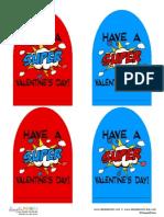 Superhero Valentine Cape courtesy of DimplePrints