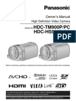 OWNER'S MANUAL PANASONIC HDC-TM900/PC AND HDC-HS900/PC