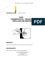 Ass1100 Guia Higiene Bucal, Tecnica de Cepillado de Dientes