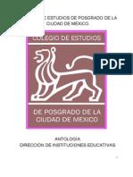 ANTOLOGÍA DIRECCION DE INSTITUCIONES EDUCATIVAS