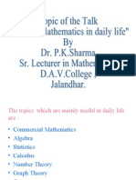 Uses of Mathematics in daily life