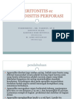 Peritonitis Ec is Perforasi