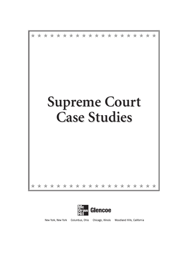 Supreme Court Cases Roger B Taney – Landmark Supreme Court Cases Worksheet