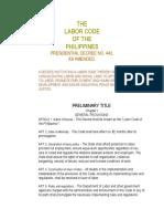 The Labor Code(Codal Tlga)