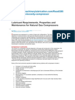 Natural GAs Compressor Lubrcants