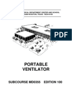 US Army Medical Course MD0355-100 - Portable Ventilator