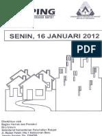 Scan Kliping Berita Perumahan Rakyat 16 Januari 2012