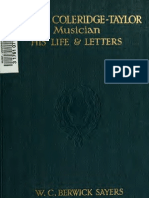 William Charles Berwick Sayers--Samuel Taylor, Musician--His Life and Letters (1915)