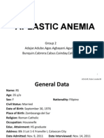 Final Aplastic Anemia With Reporter's Notes