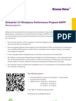 Enterprise 2.0 Workplace Performance Program EWPP - Basisprogramm