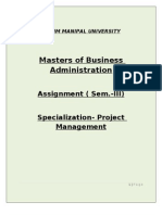 MBA(Project Mgmt)- Full Assignment SEM-3 (SMU)