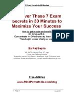 7 Exam Secrets