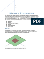 Micro Strip Patch Antenna