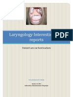 Laryngology Interesting Case Records