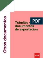 Tramites y documentos para exportar 2012