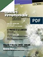 Affiche concert symphonique