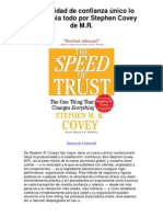 La velocidad de confianza único lo que cambia todo por Stephen Covey de MR - Averigüe por qué me encanta!