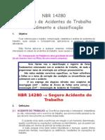 Nbr14280 - Cadastro de Acidentes Do Trabalho