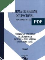 NHO07 - Norma de Higiene Ocupacional