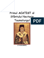 Primul ACATIST Al Sf. Nectarie