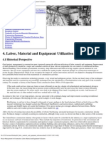 04 Labor, Material, And Equipment Utilization