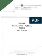 Imenik Naseljenih Mjesta NR BiH. Stanje 12.07.1955. Godine