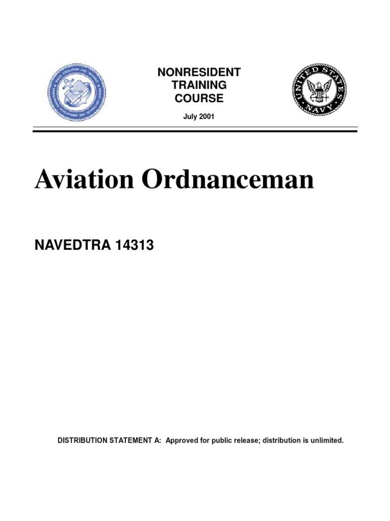 us navy course navedtra 14313 aviation ordnance man fuze rh scribd com aviation ordnance study guide 2016 Aviation Ordnance Logo