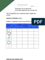 Evidens PBS Matematik Tahun 2 B2D7E1 Ciri-ciri Bentuk 3D 2D