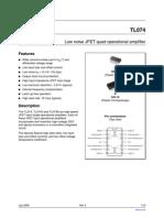 TL074 Datasheet op.amp
