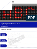Market Research Report :Digital Signage Market in India 2012