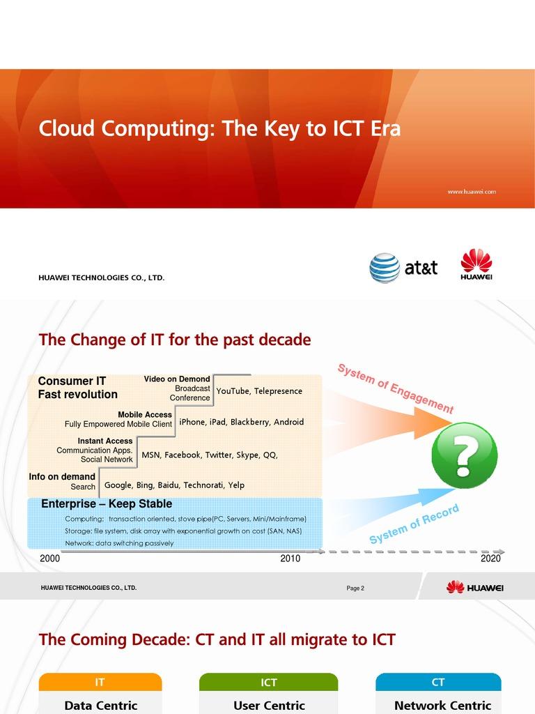 8c Huawei Single Cloud Computing-The Key to Ict Era (Core Nw