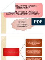 PKU3105 Factors Affecting Language Learning Aquisition