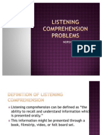 PKB3105 Listening Comprehension Problems