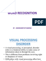 PKU3105 Word Recognition