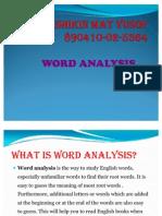 PKU3105 Word Analysis