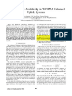 High-Data-Rate Availability in WCDMA Enhanced Uplink Systems