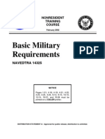 US Navy Course NAVEDTRA 14325 - Basic Military Requirements
