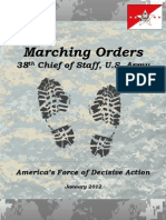 Marching Orders 38th Chief of Staff, U.S. Army