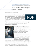 Mansen, E. y Bishop, M. Conservation of Painted Archaeological and Ethnografic Objects. 1993