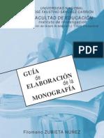 Guía de elaboracion de monografia