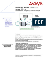 SIP Integration Using Avaya Session Manager
